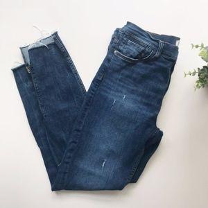 Zara   Distressed Skinny Jeans with Raw Hem 10